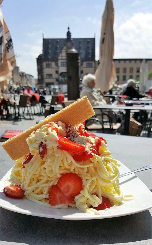 Spaghettieis in Schweinfurt