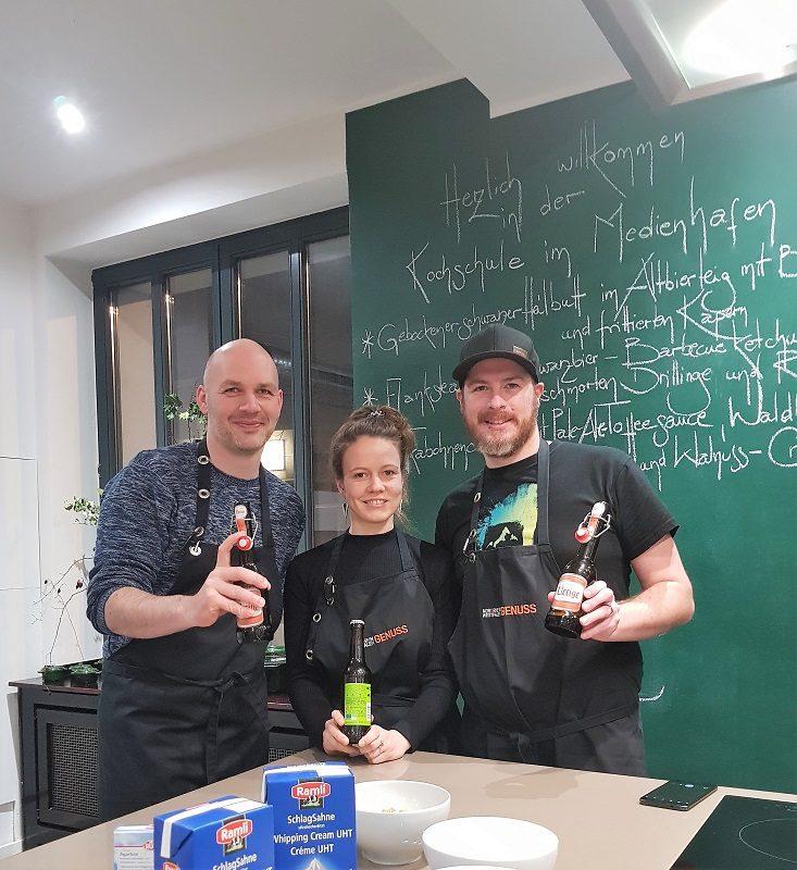 Team Nachspeise in der Kochschule in Düsseldorf