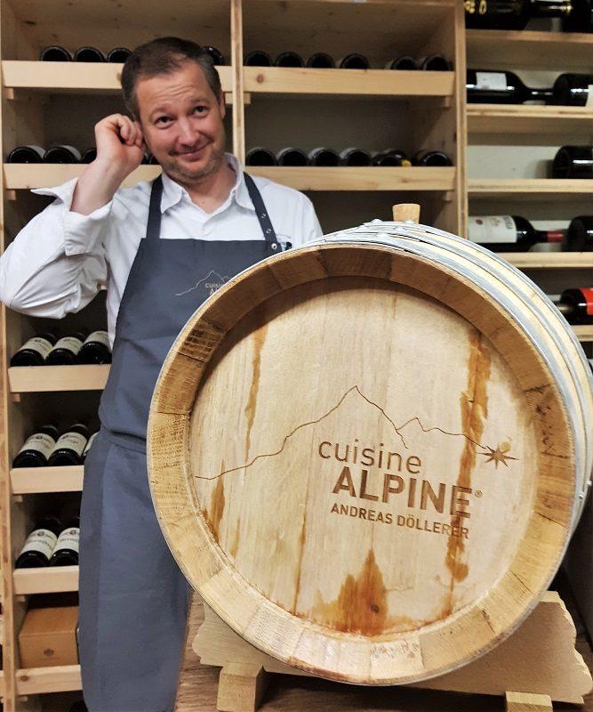 Andreas Döllerer im Weinkeller von seinem Restaurant im Tennengau bzw. Salzburger Land