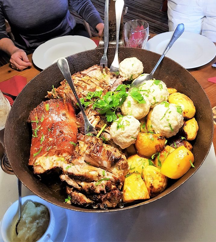 Essen im Berghof Wildau im Tennengau bzw. Salzburger Land