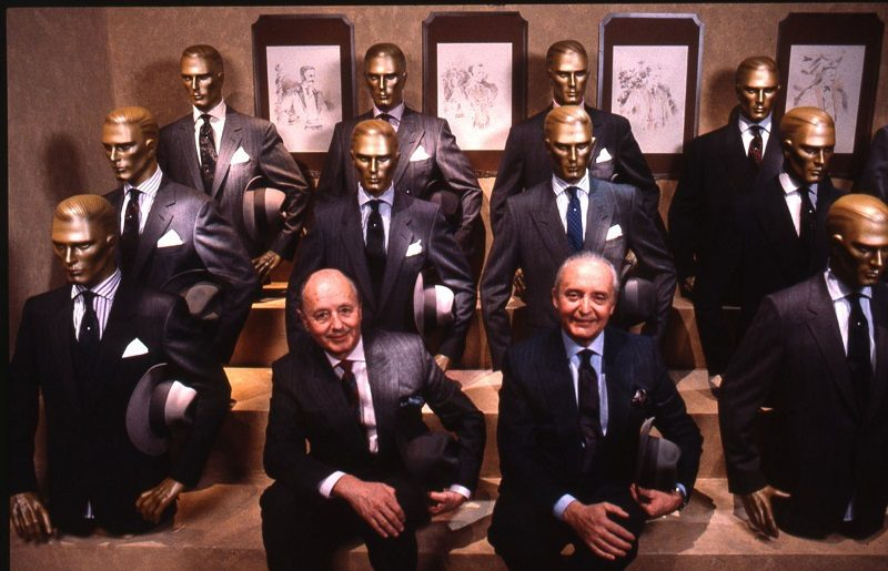Aldo and Angelo Zegna at Pitti Uomo, 1986