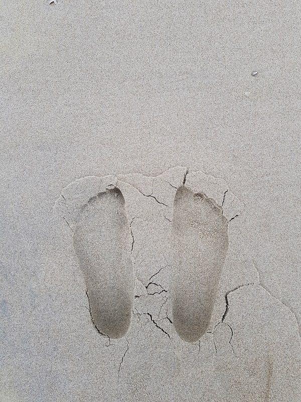 Füße im Sand auf Texel