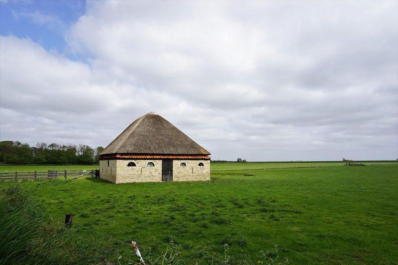 Typische Schafshütte auf Texel