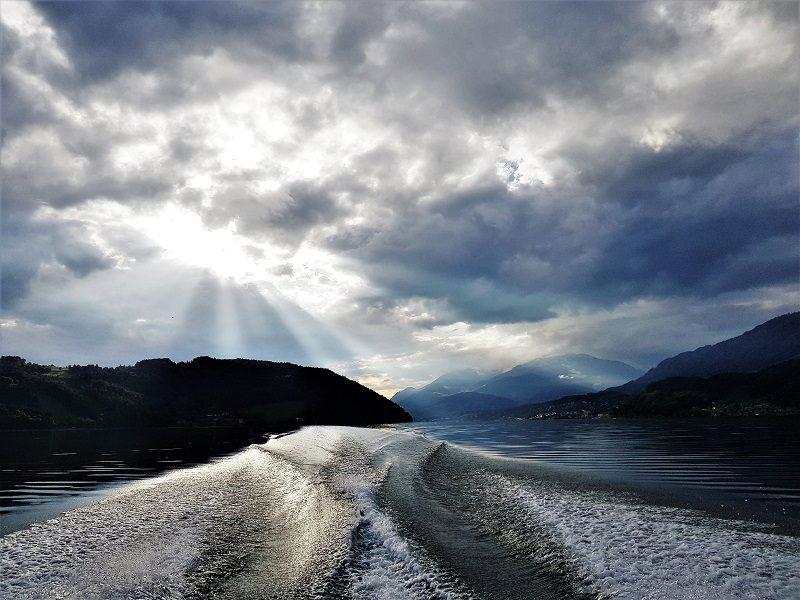 Bootsfahrt mit Motorboot Peter Strobl auf dem Millstätter See in Kärnten