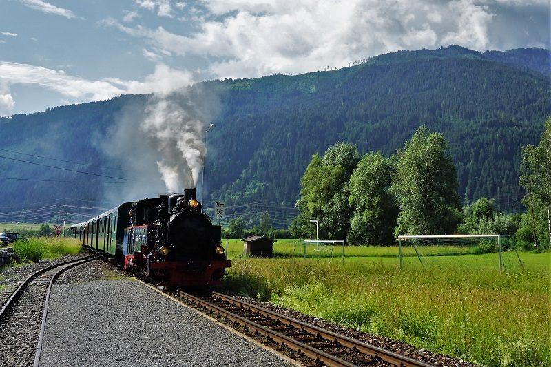 Dampflokomotive der Pinzgauer Lokalbahn im Salzburger Land