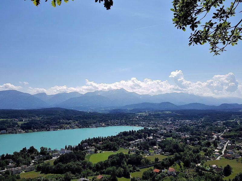 Slow Trail Römerschlucht in Kärnten mit Blick auf den Wörthersee