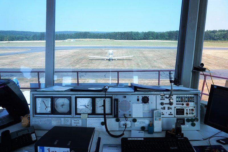 Ausblick aus dem Tower am Flugplatz Mainbullau - Churfranken