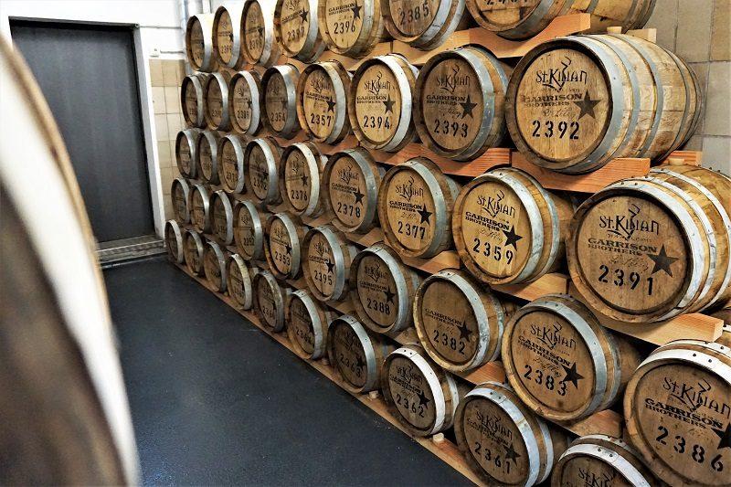Fasslager der St. Kilians Distillery in Rüdenau - Churfranken