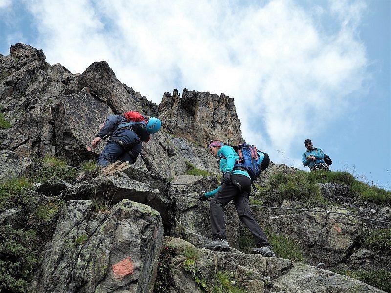 Kletterpassage-Cottbuser-Höhenweg im Pitztal