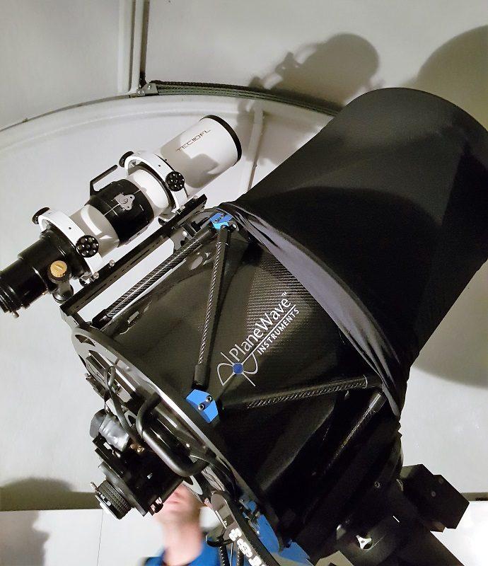 Teleskop der Sternwarte vom Alpinhotel Pacheiner