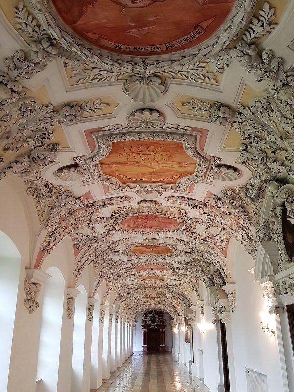 Stuckgang im Schloss Wessobrunn im Pfaffenwinkel