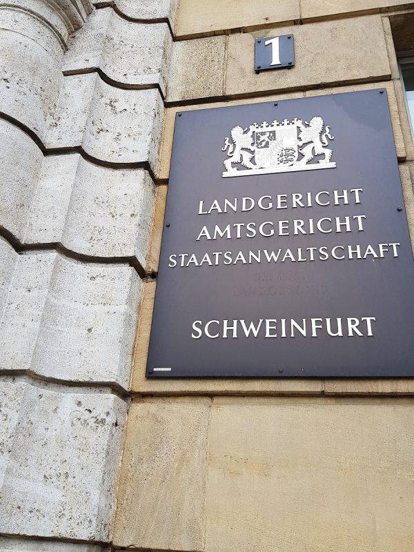 Eingang Landgericht Schweinfurt