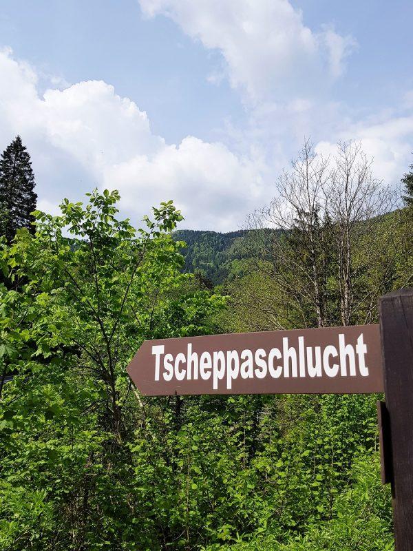 Eingang zur Tscheppaschlucht - Panoramaweg Südalpen