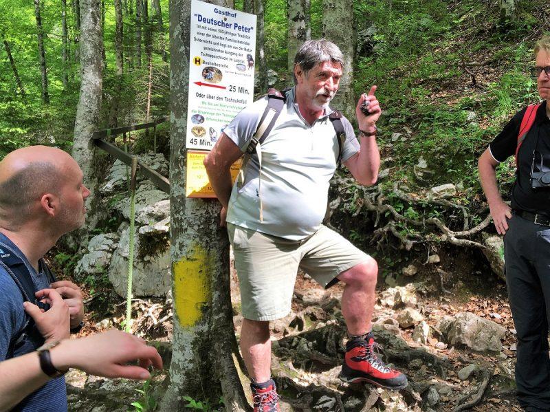 Herbert Jesenko in seiner Tscheppaschlucht - Panoramaweg Südalpen