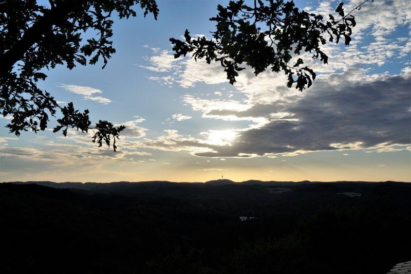 Burg Hartenstein - Sonnenuntergang