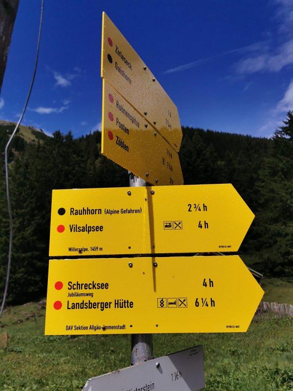 Hinweisschilder Etappe 2 - Grenzgänger