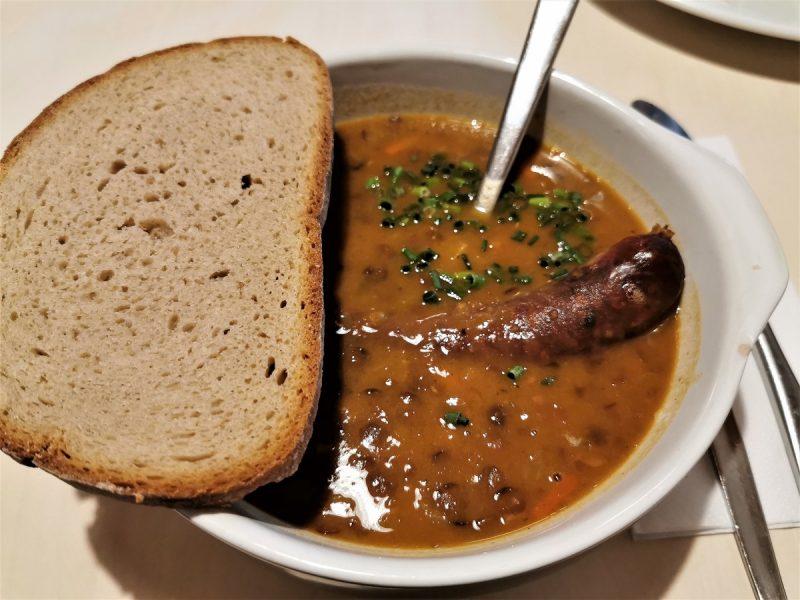 Essen auf der Landsberger Hütte - Grenzgänger
