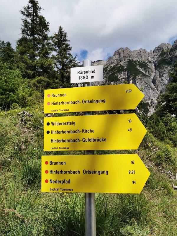 Bärenbadrunde in Hinterhornbach - Grenzgänger