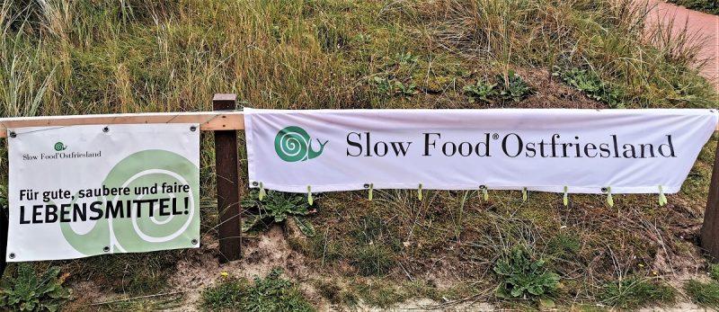Slowfood Banner auf der Insel Juist