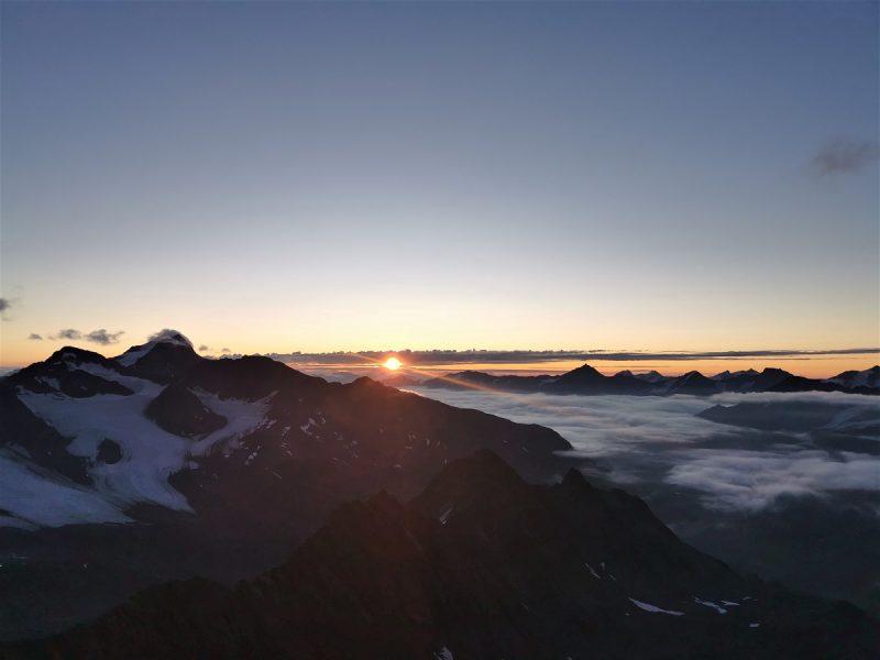 Sonnenaufgang auf dem Fluchtkogel