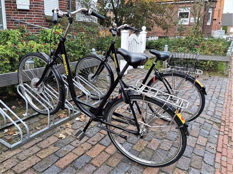 Fahrräder auf der Insel Juist