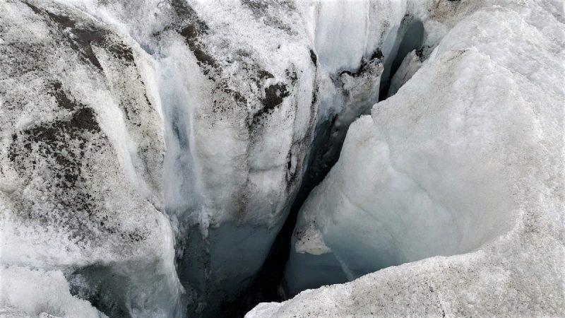 Gletscherspalte im Guslarferner bei Vent