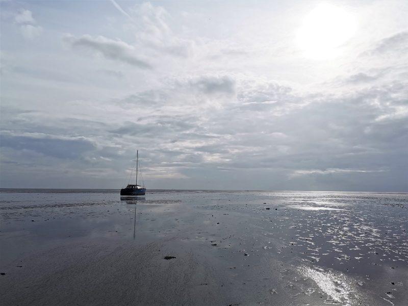 Boot im Watt auf Juist