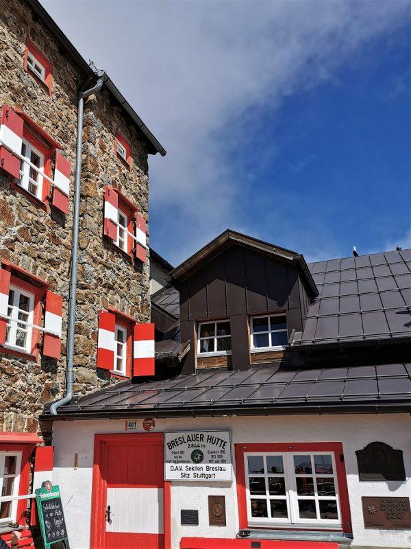 Die Breslauer Hütte im schönen Ötztal