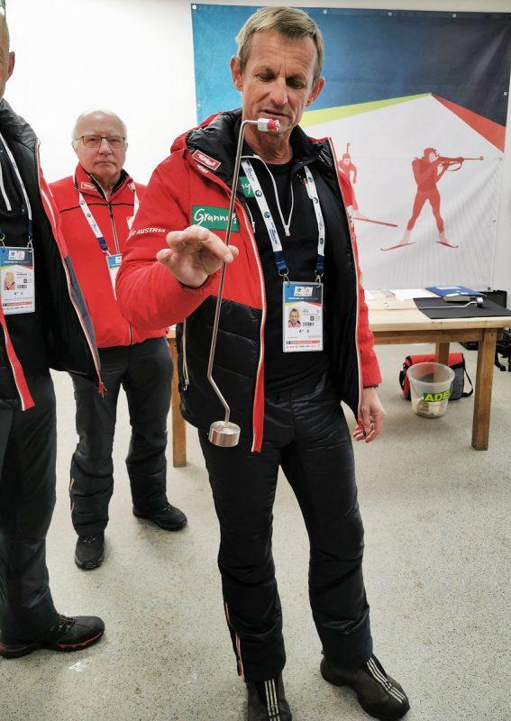 Messung vor dem Biathlon Wettkampf in Hochfilzen - Fieberbrunn