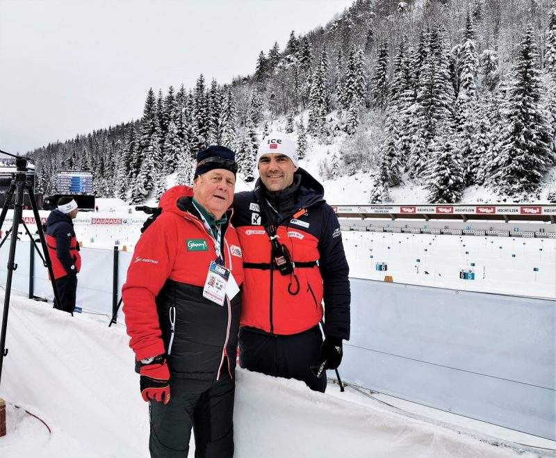 Manfred Neumayer mit Siegfried Mazet in Hochfilzen - Fieberbrunn