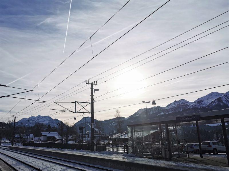 Bahnhof Fieberbrunn im Winter