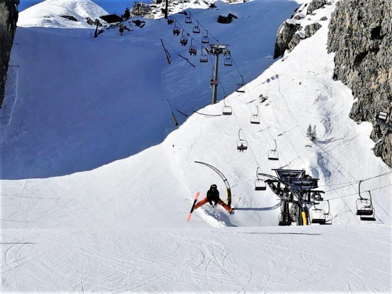 Die Grätsche von Kristian Ghedina auf dem Tofana in Cortina d'Ampezzo - 2020