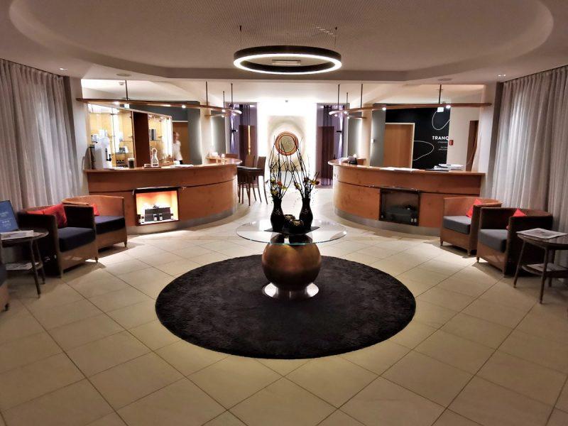 Eingang SPA-Bereich im Hotel die Wasnerin