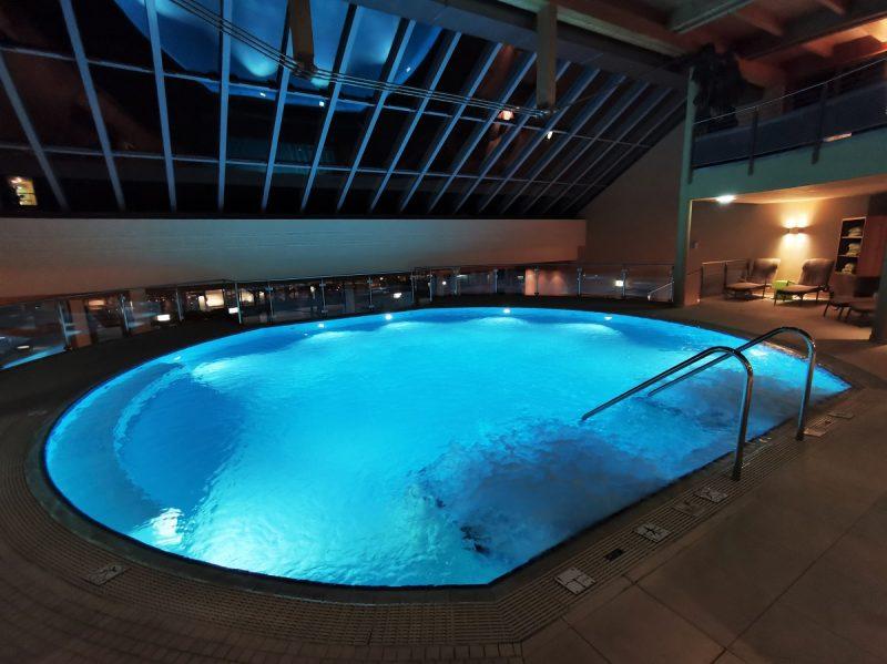 Pool im Hotel die Wasnerin