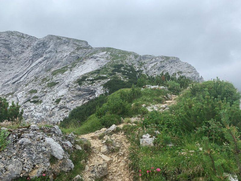 Auftieg vom Schachenhaus zur Meilerhütte im Gewitter