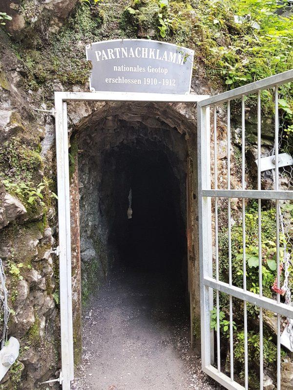 Eingang in die Partnachklamm in Garmisch-Partenkirchen