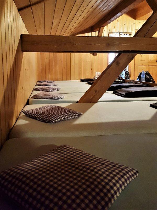 Schlafraum auf dem Schachenhaus bei Garmisch-Partenkirchen