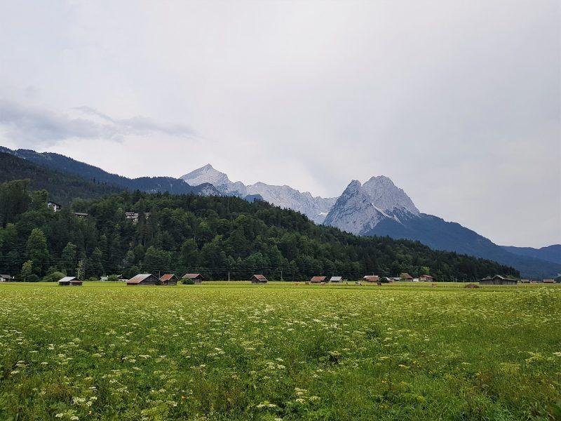Blick auf die Zugspitze von Garmisch aus