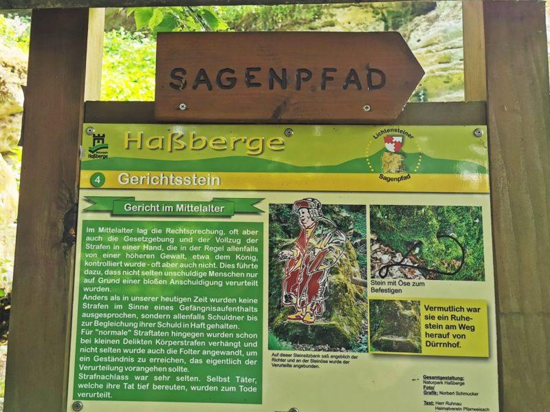 Sagenpfad an der Burgruine Lichtenstein in den Haßbergen