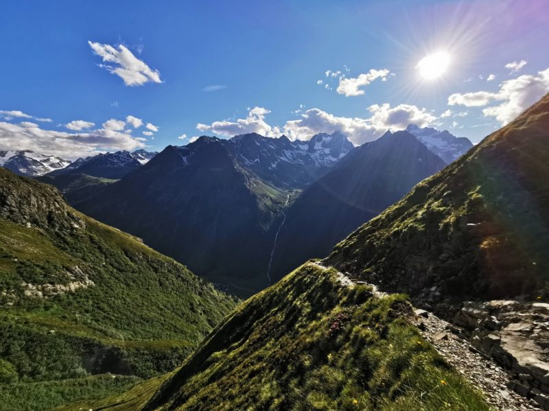 Abstieg von der Rüsselsheimer Hütte zurück ins Pitztal