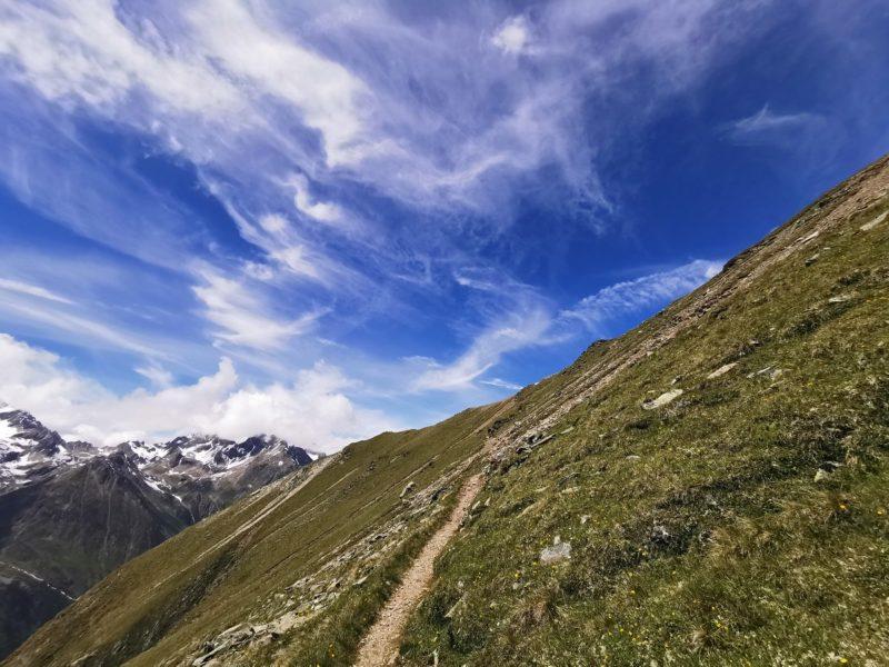 Aufstieg zum Aussichtspunkt Gahwinden im Pitztal