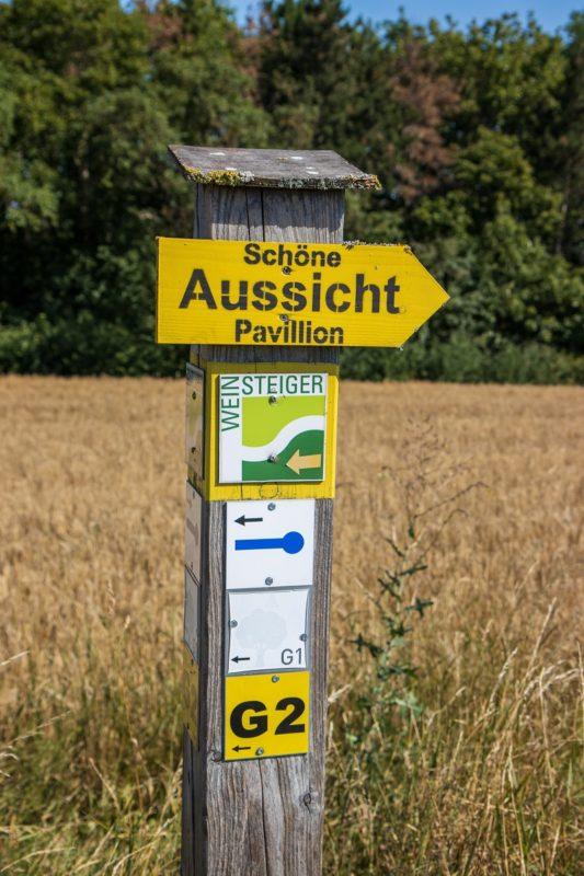 Blauer Löffel auf dem Tour Rund um den Zabelstein im Steigerwald