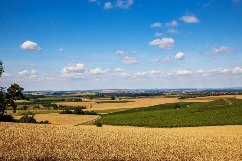 Fränkische Landschaft auf der Tour Rund um den Zabelstein