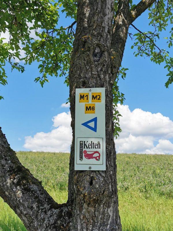 Keltenweg auf der Wanderung Rund um den Zabelstein