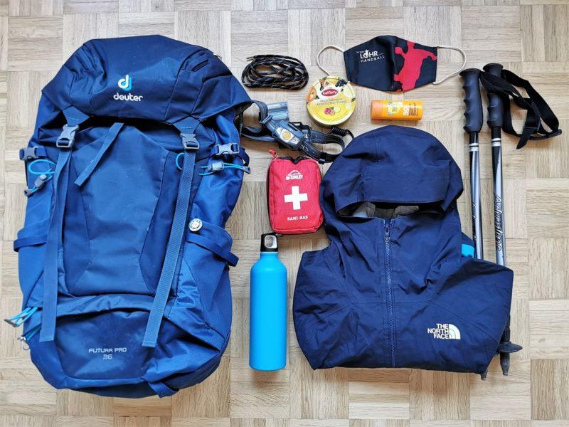 Packliste für Wanderungen - Rucksack