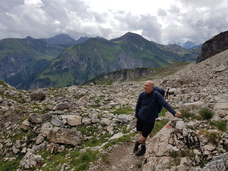 Wanderung auf dem Grenzgänger in den Allgäuer Alpen