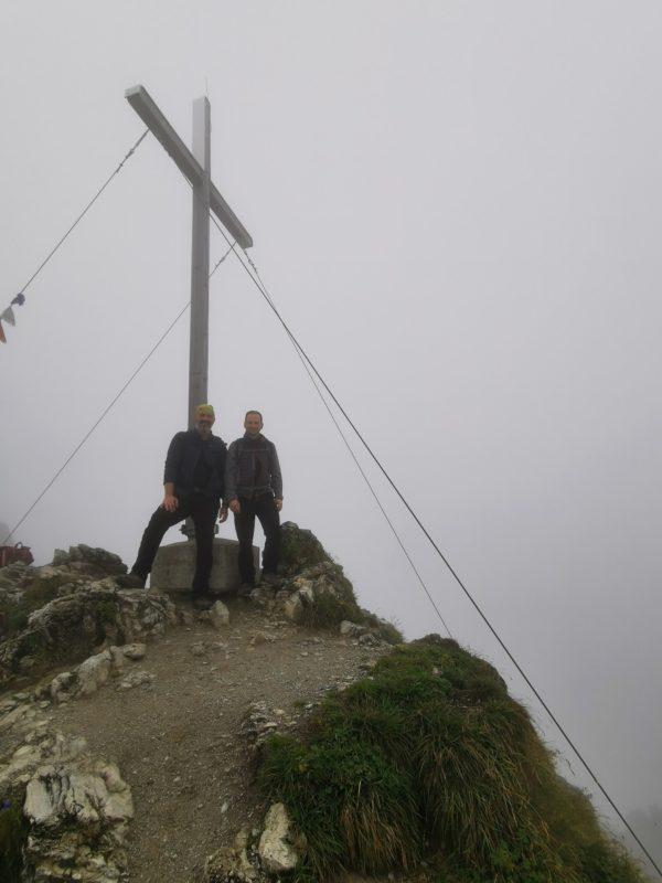 Gipfelkreuz am Rubihorn im Allgäu