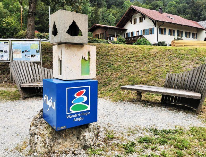 Stele Wandertrilogie Allgäu - Schwangau