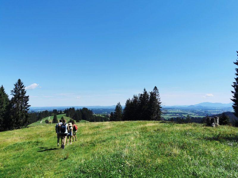 Wanderung auf dem Burgkranzegger Horn im Rahmen der Wandertrilogie Allgäu