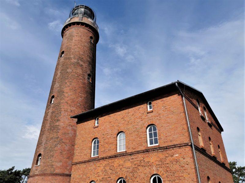 Der Leuchtturm Darßer Ort im Nationalpark Vorpommersche Boddenlandschaft in Mecklenburg-Vorpommern
